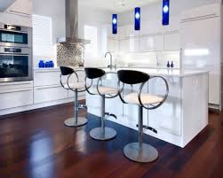 White Contemporary Kitchen - kitchen amusing kitchen bar stools modern bold and unique stool