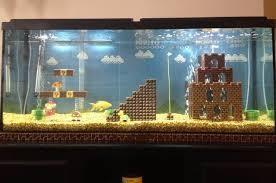 not bad lego mario level aquarium decorations geekologie