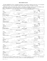 truck driver employment application form template 28 images