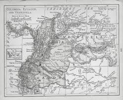 Map Of Colombia South America by Old Map Of Ecuador Colombia U0026 Venezuela 1870 75 Douglas