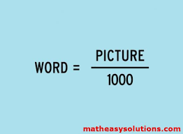 Meme Word - a word is worth a picture divided by 1000 memes math easy solutions