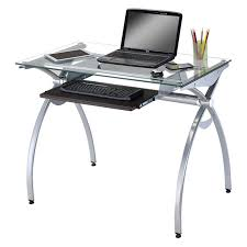 Glass Topped Computer Desk by Tables Amazing Euro Style Z Small Desk With Shelf Frosted Tempered