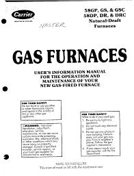 carrier furnace 58gs user guide manualsonline com