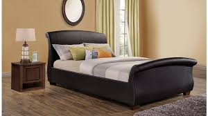 Faux Leather Bed Frames Buy Birlea Barcelona Brown Faux Leather Bed Frame Big