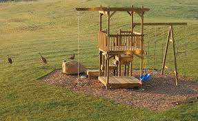How To Build A Backyard Play Structure  Fort How Did I Do It - Backyard fort designs