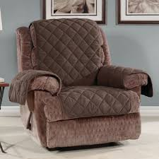 dual recliner sofa slipcover wayfair
