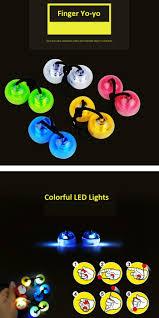 blue fidget toy finger yo yo with color changing led lights