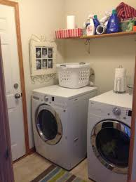 Laundry Room Storage Between Washer And Dryer by Making The Best Of My Tiny Laundry Room U2014 The Other Side Of Neutral