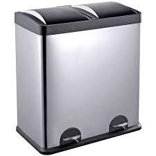 step n u0027 sort 16 gallon 2 compartment trash and recycling bin
