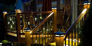 creative ideas post lights for decks post caps led lighted cap