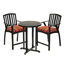 Aluminum Bistro Chairs Shop Sunjoy 28 In W X 28 In L Round Aluminum Bistro Table At Lowes Com