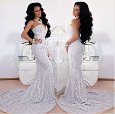white lace prom dress aliexpress buy new arrival sweetheart inside sheer