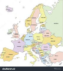 map of europe with country names and capitals europe map with country names major tourist attractions