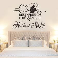 Stickers For Wall Decoration Husband And Wife Vinyl Decal Bedroom Wall Art Mural Decor Sticker