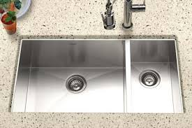 Houzer Stainless Steel Zero  Small Radius Kitchen Sinks - Double bowl undermount kitchen sinks