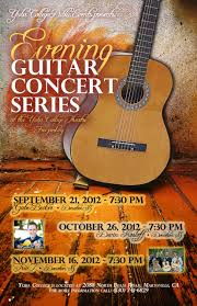 officia event poster of the evening guitar concert series image provided