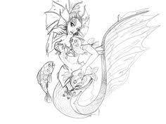 image result mermaid art printable coloring pages