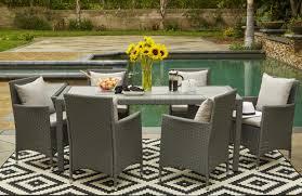 100 rectangle dining room table hanover fontana 9 piece