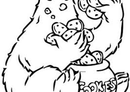cookie monster coloring pages coloring4free