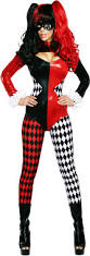 harley quinn supervillain jester catsuit cartoon characters