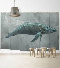 whale song designer nursery wall mural milton king whale song wall mural from muffin mani