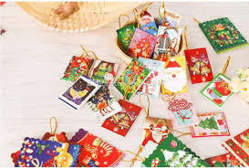 tree ornaments greeting card cards small elevator