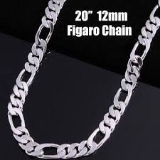 figaro chain silver necklace images Lostpiece 2017 new trendy men 39 s sterling silver 925 necklace jpg