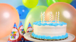 simple white birthday cake with cake candles stock footage video