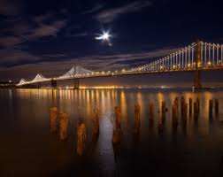 Bay Bridge Lights Bay Bridge Etsy
