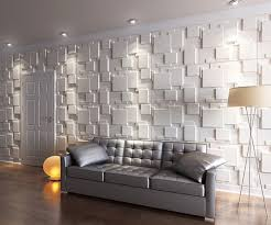 comfy wooden table textured wall panel to beautify living room