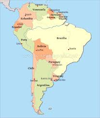 South America Map With Capitals by