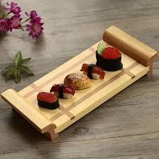 ustensiles de cuisine japonaise japon style creative bambou sushi plaque shiraki plateau sashimi