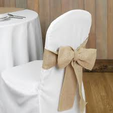 burlap chair covers chair covers sashes www partymill