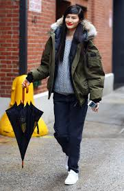 black friday winter jackets suihe with her canada goose parka weather appropriate offduty
