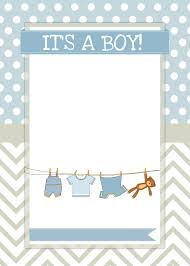 Baby Shower Invitation Cards U2013 Baby Boy Elephant Shower Invitations Free Printable Invitation