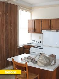 The Hunted Interior Kitchen Before U0026 After A 1960s Studio Kitchen Gets A Budget Glam