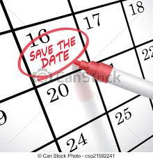 save the date calendar save the date words circle marked on a calendar by a pen eps
