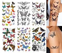 amazon com supperb butterfly temporary tattoos 6 pack