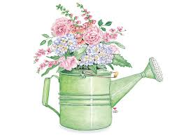 decorative watering cans watering can full of spring flowers decopaj pinterest spring