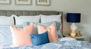 Spring Bedroom Makeover - transition into spring with this blue bedroom makeover