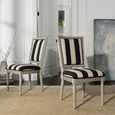 Black And White Striped Dining Chair Safavieh Buchanan Black Ivory Rustic Gray 19 In H French