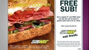 food coupons subway coupon free fast food coupons new updated free printable