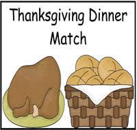 thanksgiving dinner match file folder 1 00 file folder