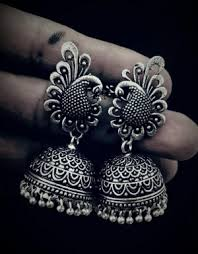 Buy Tribal German Silver Jhumka Jhumkas German Silver Jhumkas 28 Online Shopping India