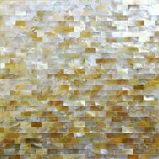 natural golden shell subway tiles mother of pearl mosaic seamless