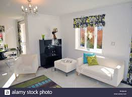 new show home lounge interior uk stock photo royalty free image
