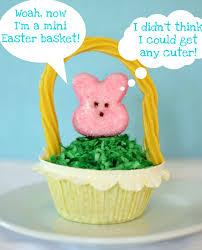 peeps basket easter basket peeps cupcake cuter 52 kitchen adventures