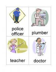 occupation flash cards a set of 12
