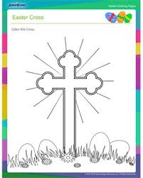 easter cross u2013 printable coloring pages for easter u2013 jumpstart