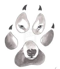 wolf in paw print design in 2017 photo pictures